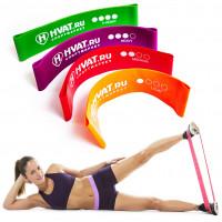 Фитнес резинка для ног и ягодиц комплект из 4 штук. Mini Bands HVAT