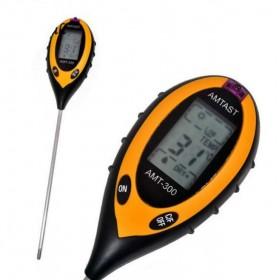 Ph метр для почвы AMT-300. Электронный измеритель pH, влажности, температуры и освещенности почвы
